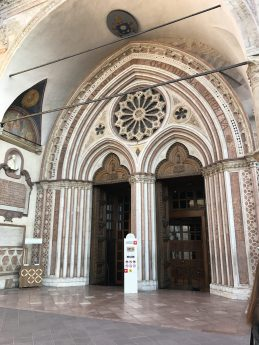 Front doors of St. Francis Basilica in Assisi. I don't think I was allowed to take photos inside.
