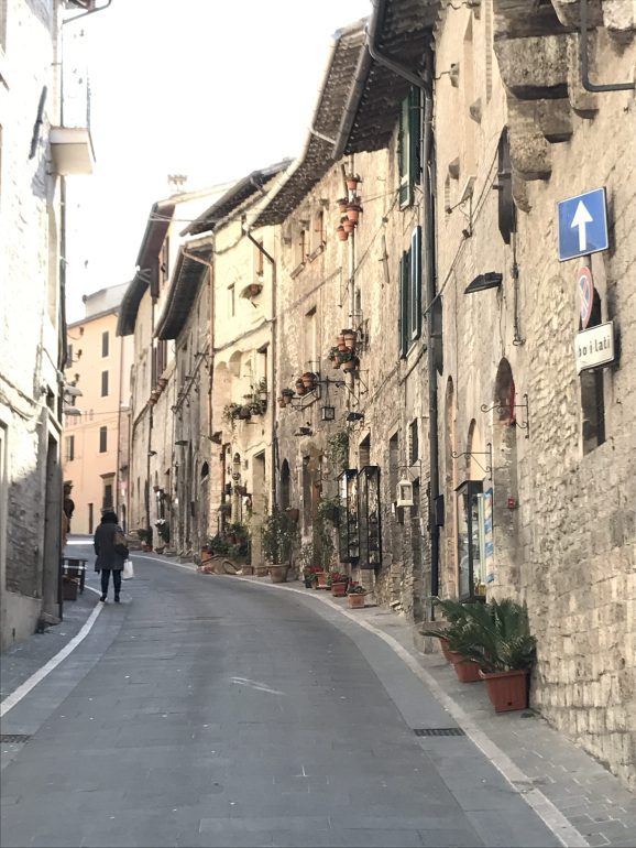 Another beautiful Assisi road with container gardens.