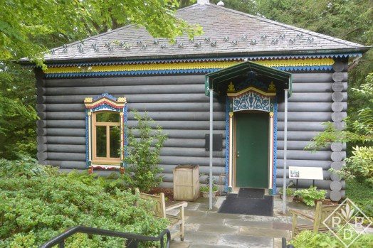 The dacha at Hillwood was built by Post in 1969. It once housed part of her Russian collection.