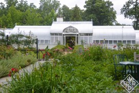 The greenhouse at Hillwood is the home of 2,000 orchids. Orchids were Post's favorite flower.