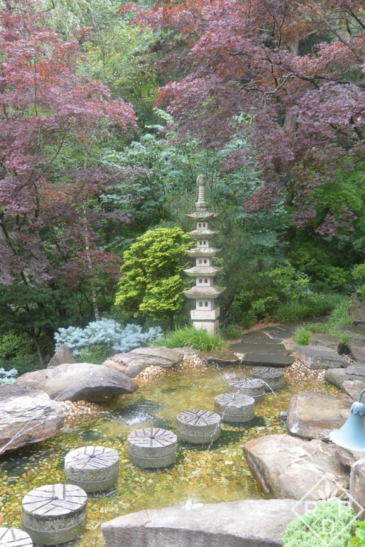 Tower in the Japanese Garden at Hillwood.
