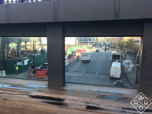The 10th Avenue Viewing deck is the perfect place to watch the traffic below. It is especially effective at night.