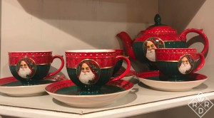 Christmas tea set Mom bought me when my children were small.