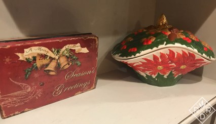 My Mom's Christmas poinsettia bowl she made in the late 70s.