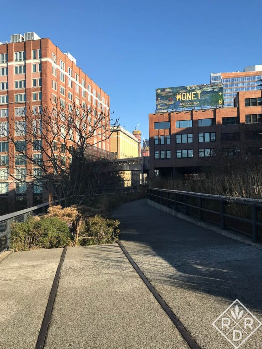 Abandoned tracks jut into planting beds which is part of what this park symbolizes, the urban hardscape melding with natural soft textures.