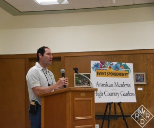 David Salman, founder of High Country Gardens, gave an inspiring talk one day at the fling.