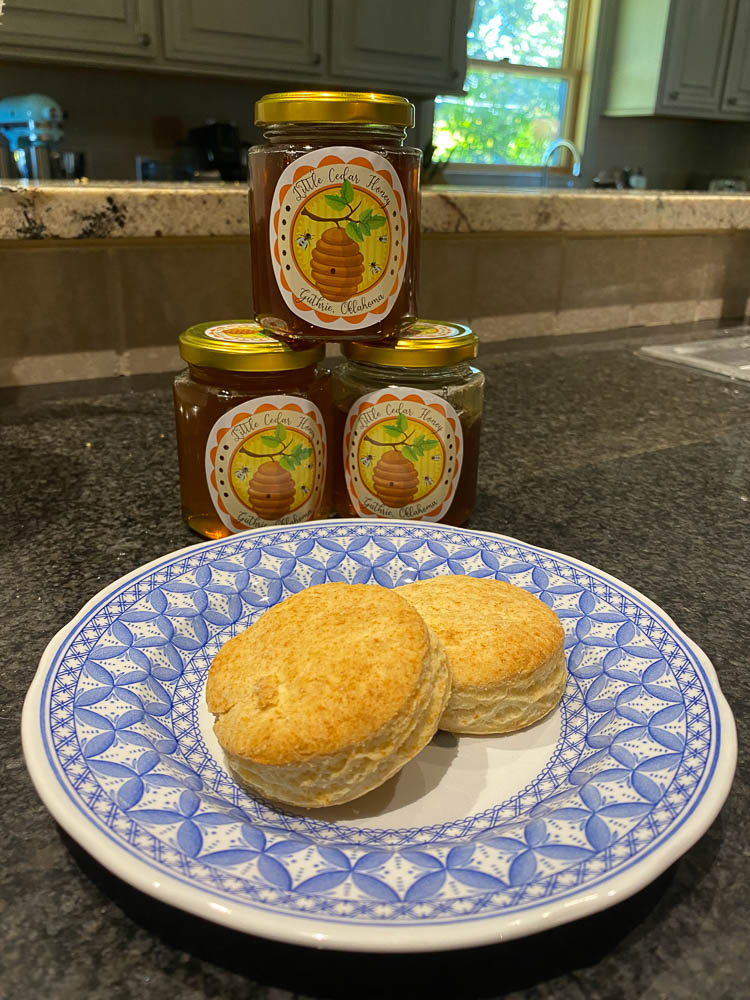 Gluten free Biscuits and my wildflower honey