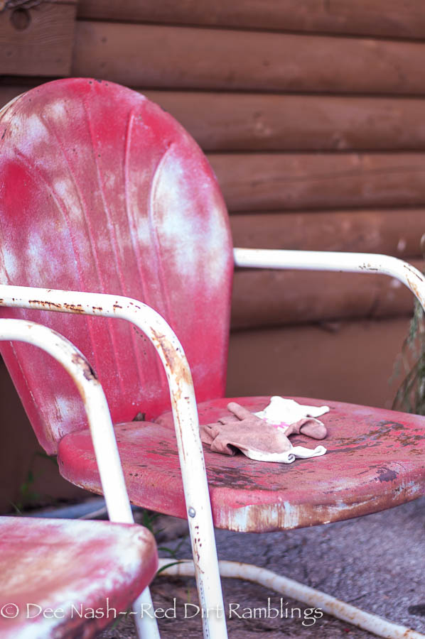 I am as weary as these old chairs.