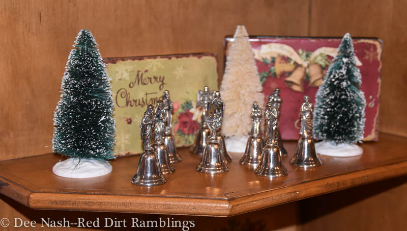 Nativity scene made of silver bells is a newer heirloom.