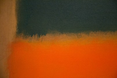 Green-and-Tangerine-on-Red-(Detail)