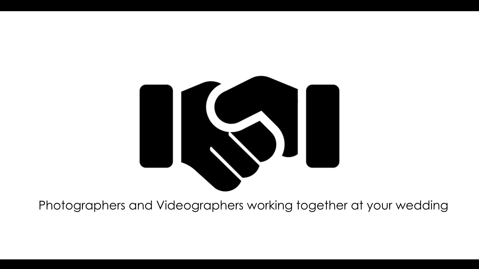 How videographers and Photographers work together at a wedding