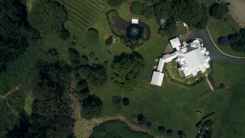Aerial top down view of Maleny Manor