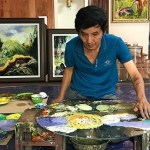 A unique Vietnamese artist who finger paints in reverse – VnExpress International