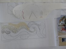 the designs begin to take shape