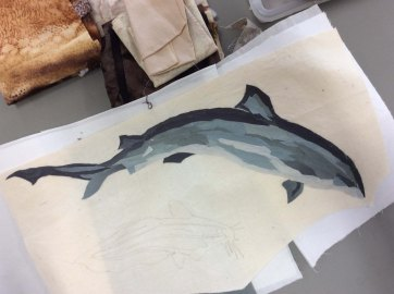 Sue's Bull Shark - I really DON'T think it looks like a dolphin!!!