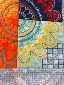Detail of Ryl's table runner
