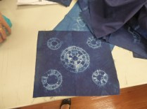 Jill showed her pieces of shibori dyed work as well.