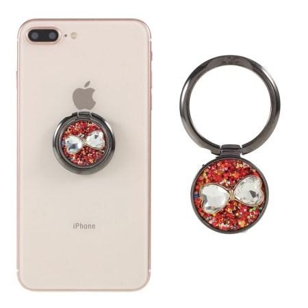 LGD Rhinestone Bowknot Magnetisk Ring Holder Til Smartphones