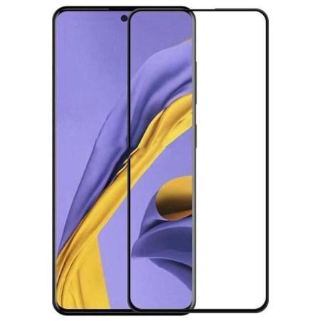 Samsung A71 Full Skærmbeskyttelse – Sort Ramme
