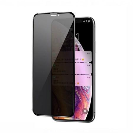 iPhone XR 6D Privacy Skærmbeskyttelse (Anti-Spy)