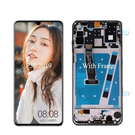 Huawei P30 Skærm Med Ramme Oled Kvalitet