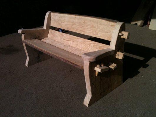 Sweet Chestnut & Oak bench