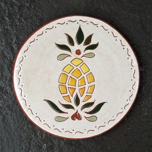6 in. Round Pineapple Tile Trivet - $25.