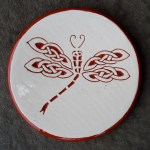 Celtic Dragonfly Tea Dish - $8.