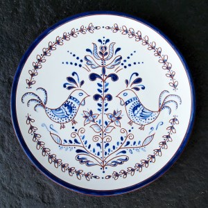 8 in. Blue Chicken Plate - $39.