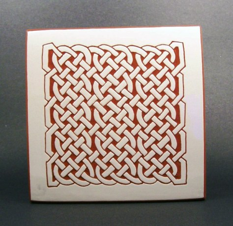 6 in. square Maze tile trivet - $20.