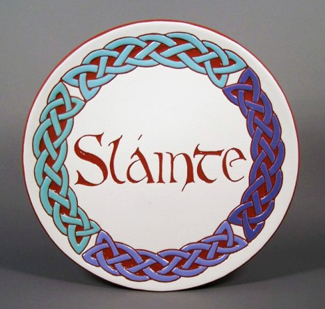 8 in. Celtic four-part Circle Plate - white $39.