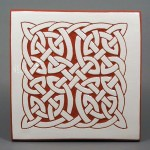 6 in. square Fat Knot tile trivet - $20