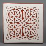 6 in. square Fat Knot tile trivet - $20