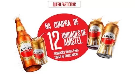 Cadastrar Promoção Cadeira Cativa Cerveja Amstel da Libertadores - Rede da Promoção
