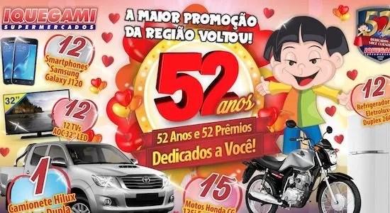 Promoção Iquegami Supermercados 52 Anos 52 Prêmios