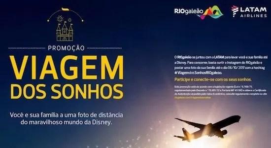 LATAM e RIOGaleão na Promoção Viagem Dos Sonhos - Rede da Promoção