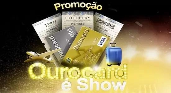 Cadastrar Promoção OuroCard é Show
