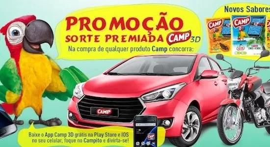 Cadastrar Promoção Sorte Premiada Camp 3D - Rede da Promoção