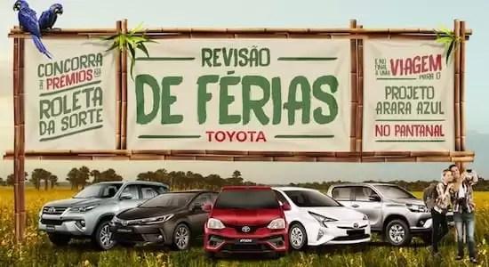 Promoção Toyota Roleta da Sorte Revisão de Férias