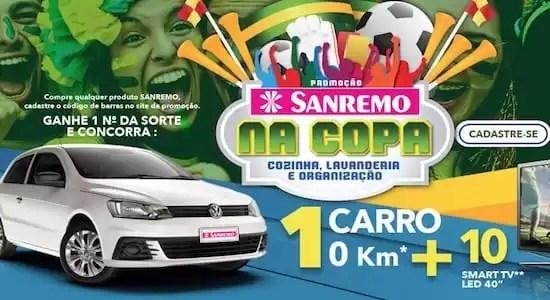 Cadastrar Promoção SANREMO na Copa Cozinha - Rede da Promoção