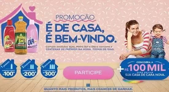 Promoção AJAX Pinho Sol OLA É de Casa É Bem-vindo