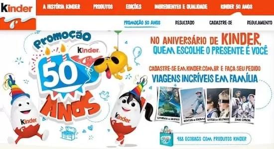 Promoção Kinder 2018 Aniversário de 50 Anos - Rede da Promoção