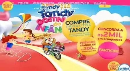 Promoção Tandy 2018 Gostinho de Infância - Rede da Promoção