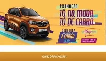 Promoção Tô na Moda Tô de Carro Tesoura de Ouro