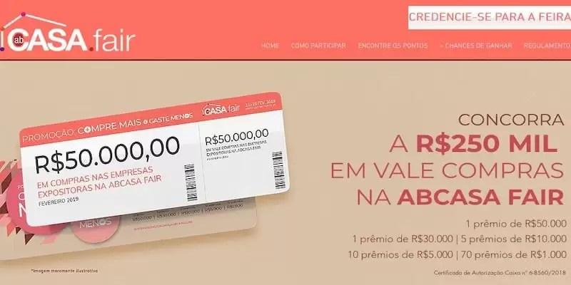 4e2a48b8e ABCasa Fair Cadastrar Compre Mais Gaste Menos