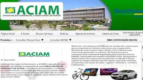 Promoção Mega Natal de Prêmios ACIAM