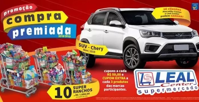 Compra Premiada Leal Atacadão e Supermercado Center