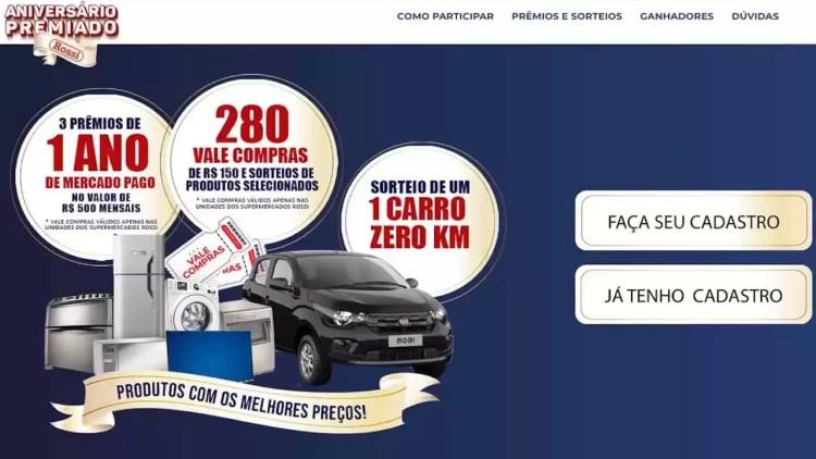 Promoção Aniversário Premiado Rossi