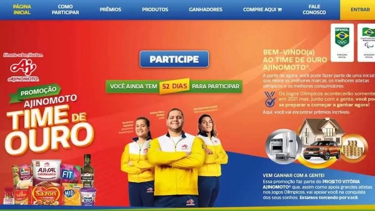 Imagem da Promoção Ajinomoto lançada em 2020