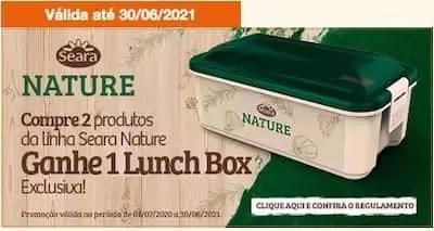 Promoção Lunch Box Seara Nature compre e ganhe